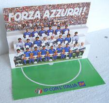 FORZA AZZURRI! (1989) Italia-Bulgaria del 20/09/1989 CARTONATO 3D