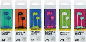JVC HAFR15 EARBUDS IN-EAR,MIC REMOTE,NOISE-ISOLATE, MULTI COLOR BRAND NEW