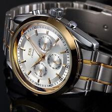 Montre ESS poignet mécanique date style habillé automatique or acier inoxydable