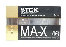 TDK MA-X 46 Metal Alloy Cassette Tape New Sealed Made in Japan 1988
