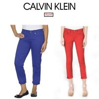 NEW WOMEN'S CALVIN KLEIN POWER STRETCH SKINNY CROP JEANS VARIETY SIZES &A12