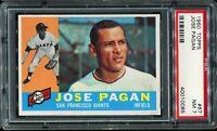 1960 Topps Baseball #67JOSE PAGAN San Francisco Giants RC ROOKIE PSA 7 NM