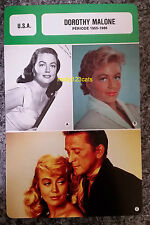 American Actress Dorothy Malone Period 1955-1986 French Film Trade Card