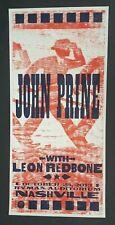 John Prine 2013 Ryman Hatch Show Print Nashville Concert Poster Leon Redbone