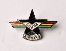 Vintage Ghana Airways  pin badge  Squire Airline Collectable