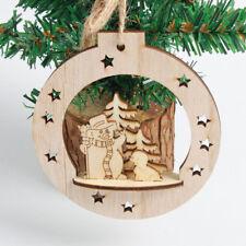 Christmas Snowflake Wood Embellishments Rustic Tree Hanging Ornament Home Decor