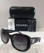 c9c265c038272 Chanel 5239 501 3C Black Plastic Silver Logo Grey Gradient Women Sunglasses  New