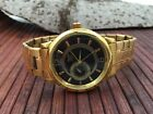 Minoir Sens Germany automatic watch ip gold metal band little second - new