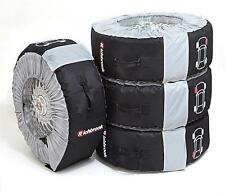 """Richbrook Wheel & Tyre Carry Bags (18-22"""") Set of 4 (Winter/Track Storage) Large"""