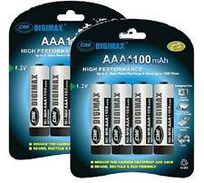 DIGIMAX*8 x 1100 MAH AAA RECHARGEABLE BATTERIES-NI-MH
