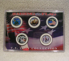 New listing Colorized - Raising the Flag U.S. Coin Collection - State Quarters