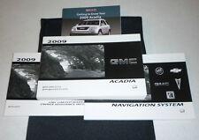 2009 GMC ACADIA OWNERS MANUAL 09 SET +CASE + NAVIGATION GUIDE SLE SLT
