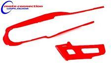 HONDA CRF450X ENDURO 05-06 CHAIN GUIDE & SLIDER KIT RED UFO 4632