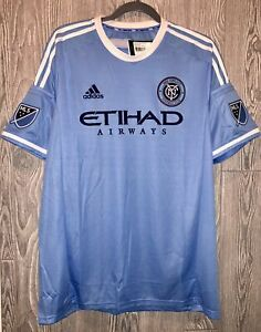 ADIDAS MLS New York City FC Blue S/S Home Authentic Soccer Jersey NEW Mens M XL
