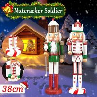 38CM Luxury Traditional Nutcracker Soldier Christmas ation Gifts   + #