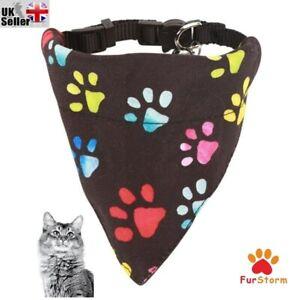 Cat small Dog Bandana Collar Puppy Cat Pet Adjustable Neck Scarf Safe Release