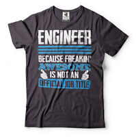 Engineer T-shirt Official Job Title Gift For Engineer Funny Engineering T-shirt
