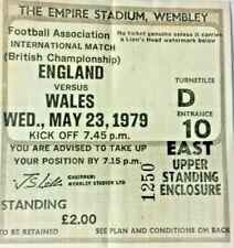 More details for england v wales match ticket home international championship 23/5/1979 wembley.