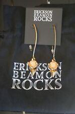 Rocks Antique Gold Geometric Drop Earrings New W Pouch Designer Erickson Beamon