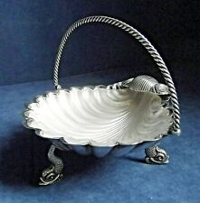 "SUPERB 6"" ~ SILVER Plate & FROSTED Glass ~ BUTTER / Olive BOWL ~ c1880"