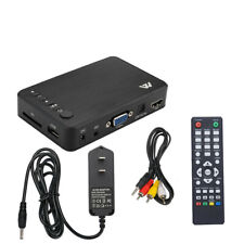 Full 1080P HD Multi Media Player TV BOX 3 Outputs HDMI/VGA/AV USB And SD Card
