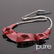 Luxus Statement Kette Noa Paris Halskette Emaille Versilbert Collier Choker