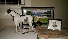 GERONIMO Premier Club 2016 SR Grulla Paint Horse Limited! Suede bag, COA, Box