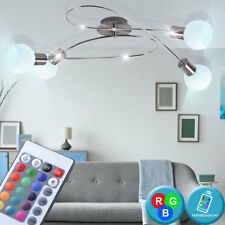 Led Rvb Plafonniers Télécommande la Vie Chambre Verre Spot Variateur Lampe