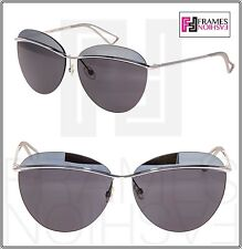 db4a3967db5 CHRISTIAN DIOR METALLIC 2 Palladium Silver Mirrored Metal Oval Sunglasses