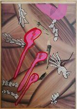 Sergio DANGELO - Dipinto tecnica mista su tela- anni '70, certificato artista