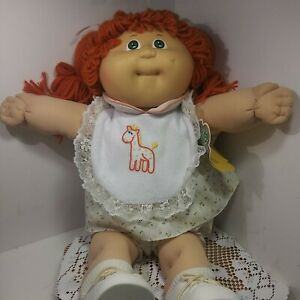 Vintage 1985 Xavier Roberts Cabbage Patch Doll Red Spaghetti Hair / Green Eyes.