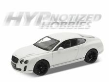 WELLY 1:24 BENTLEY CONTINENTAL SUPER SPORTS DIECAST WHITE 24018 N/B