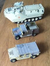 1/35 Built - US Amphibious Vehicle & 2x Humvees. Absolute Bargain. High Detailed