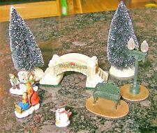 8 Piece Christmas Village Accessories