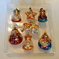 Dept 56 Set Nativity Christmas Ornaments - Madonna Child Joseph Kings Angel Star