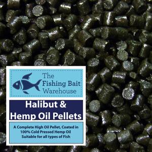 Premium Halibut & Hemp Oil Pellets 1kg - Sizes from 2 to 20mm, Carp Fishing