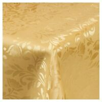 Damask Gold Jacquard Tablecloths Rectangle Oblong Table Cloth Tableware Dining