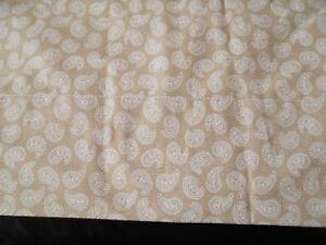 Ralph Lauren King Flat Sheet Tan Cream Paisley Print