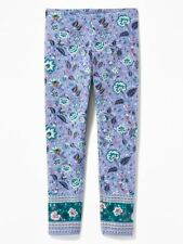 Size 14 X Large NWT Old Navy Blue Multi Floral Pattern Full Length Leggings