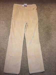 Woman's Talbots Beige Brushed Material Pant  ~ Size 14 ~ New With Tags ~