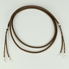 Cloth Covered Vintage Telephone Receiver Cord - Brown - Spade - Spade - 30007