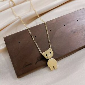 Necklace Stainless Sweet Bear 🐻 New! 44 CM Color Gold … Including Gift Box! ✨