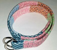 Vineyard Vines Patchwork Fabric Ring Belt-Size Medium