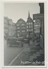 Fritzlar 1936 - Marktplatz Autos Schuhmacher Mienert Maggi - Altes Foto 1930er