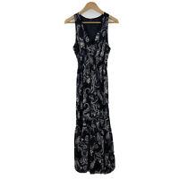 Motivi Italy Womens Maxi Dress Size 12 AU Sleeveless Elastic Waist Floral