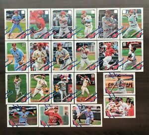 2021 Topps 582 Montgomery Club Factory Set Base Team Set ~ Pick your Team