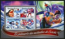 TOGO 2016 GOLD MEDAL WINNERS OF THE SOCHI OLYMPIC GAMES SHEET MINT NH