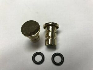 Endkappen für Küchenreling vermessingt 16mm 2 St.
