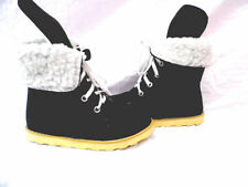Flat (less than 0.5') Canvas Unbranded Boots for Women