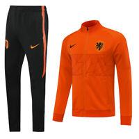 2020 Netherlands Orange Mens Soccer Sports Jersey Jacket Tracksuit Sets